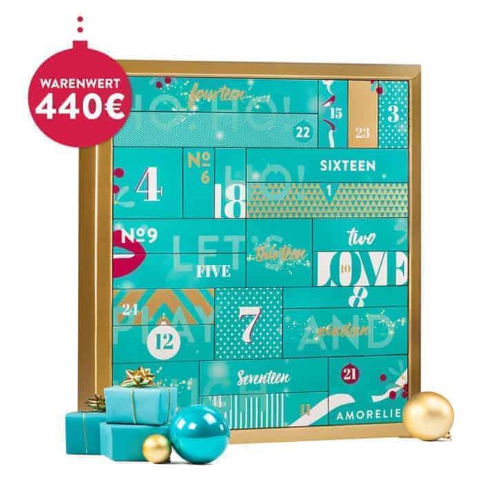 Der Amoreliekalender stehend mit 24 Türen